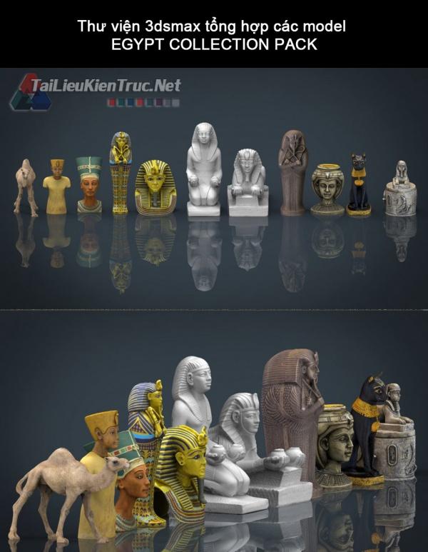 Thư viện 3dsmax tổng hợp các model EGYPT COLLECTION PACK