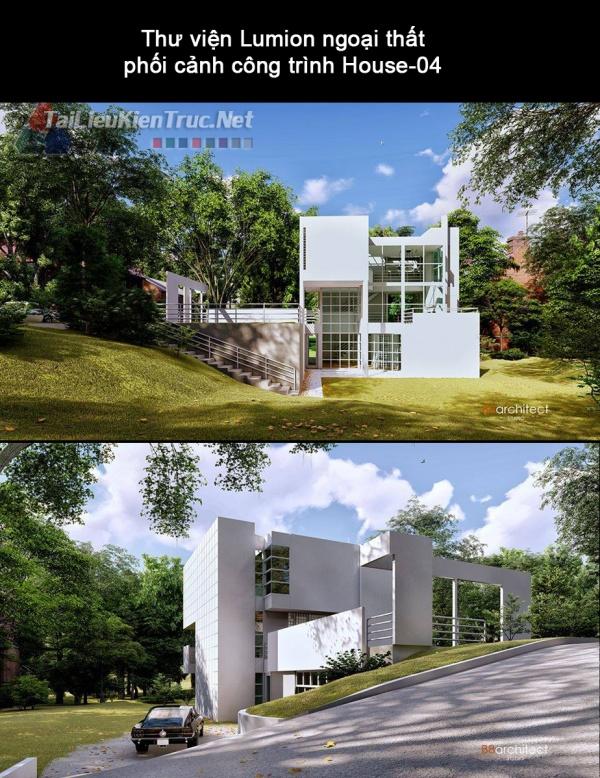 Thư viện Lumion ngoại thất phối cảnh công trình House-04