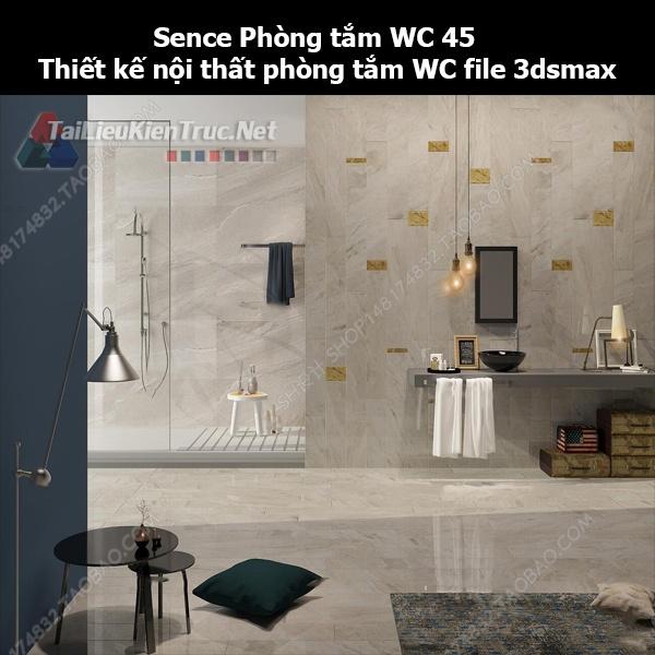 Sence Phòng tắm WC 45 - Thiết kế nội thất phòng tắm + Wc file 3dsmax