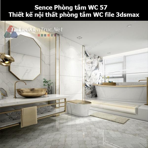 Sence Phòng tắm WC 57 - Thiết kế nội thất phòng tắm + Wc file 3dsmax