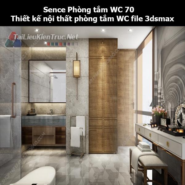 Sence Phòng tắm WC 70 - Thiết kế nội thất phòng tắm + Wc file 3dsmax
