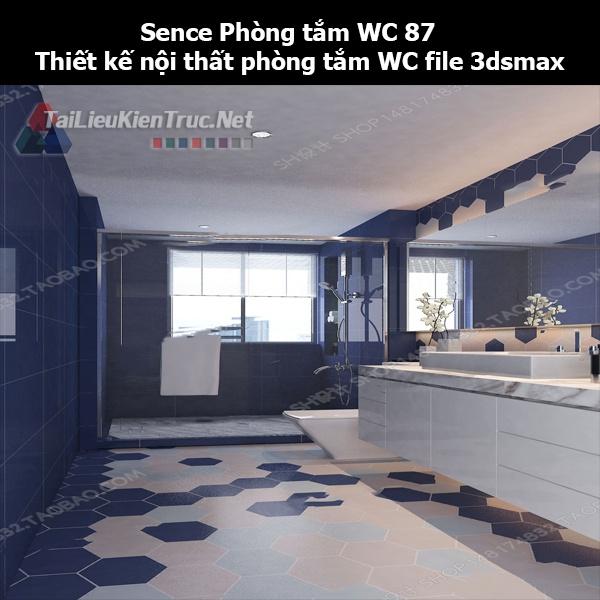 Sence Phòng tắm WC 87 - Thiết kế nội thất phòng tắm + Wc file 3dsmax
