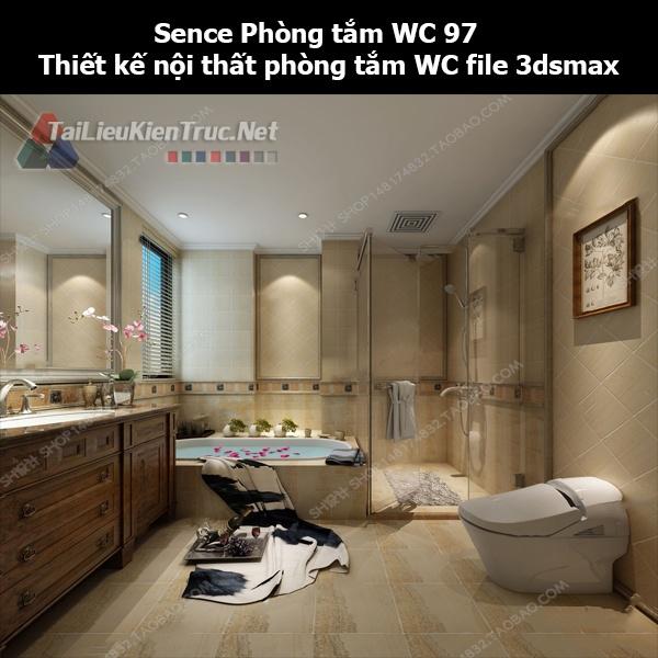 Sence Phòng tắm WC 97 - Thiết kế nội thất phòng tắm + Wc file 3dsmax