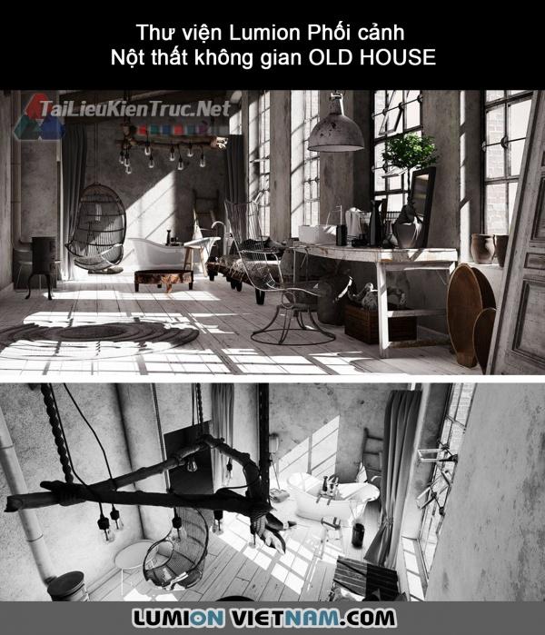 Thư viện Lumion Phối cảnh Nột thất không gian OLD HOUSE