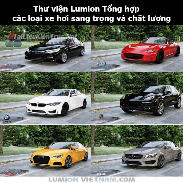Thư viện Lumion Tổng hợp các loại xe hơi sang trọng và chất lượng