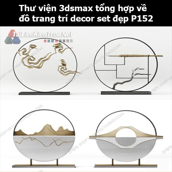 Thư viện 3dsMax tổng hợp về đồ trang trí decor set đẹp p152