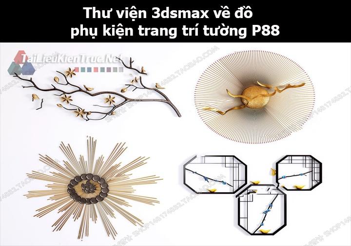 Thư viện 3dsMax về đồ phụ kiện trang trí tường p88