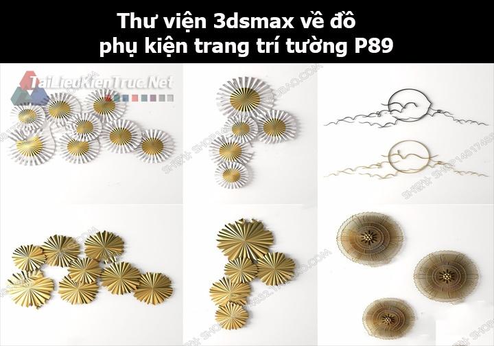 Thư viện 3dsMax về đồ phụ kiện trang trí tường p89