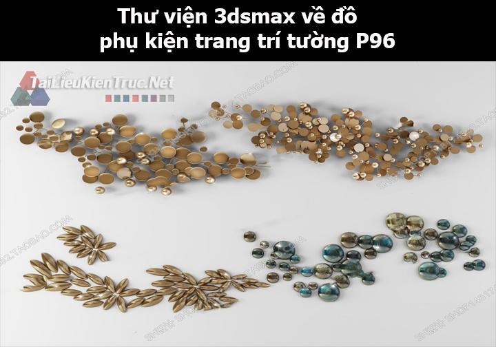Thư viện 3dsMax về đồ phụ kiện trang trí tường p96