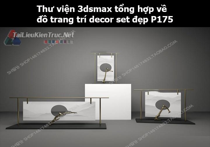 Thư viện 3dsMax tổng hợp về đồ trang trí decor set đẹp p175