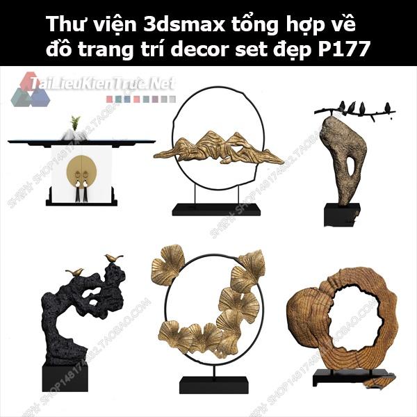 Thư viện 3dsMax tổng hợp về đồ trang trí decor set đẹp p177