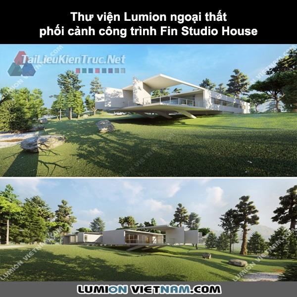 Thư viện Lumion ngoại thất phối cảnh công trình Fin Studio House