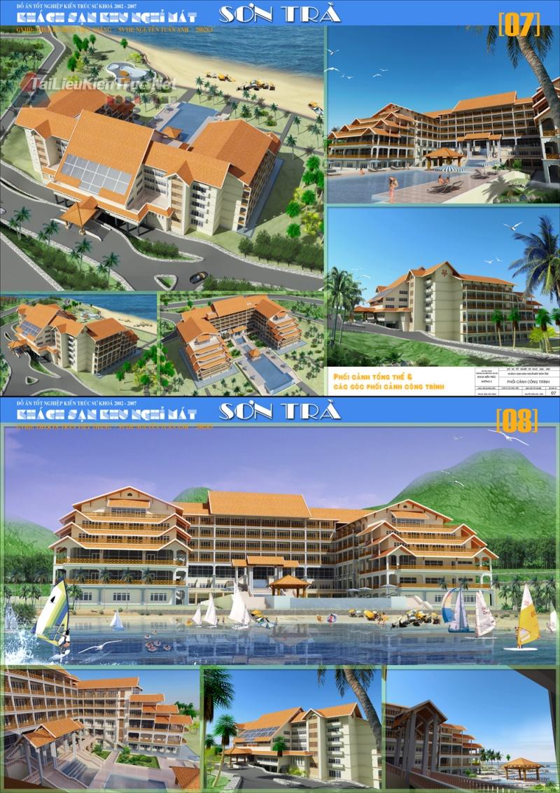 Đồ án tốt nghiệp kiến trúc sư - Khách sạn khu nghỉ mát Sơn Trà