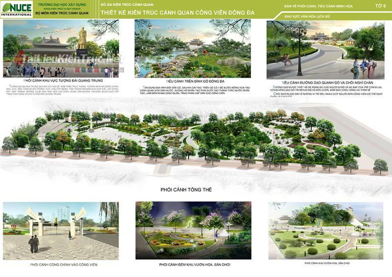 Đồ án kiến trúc - Thiết kế cảnh quan công viên Đống Đa