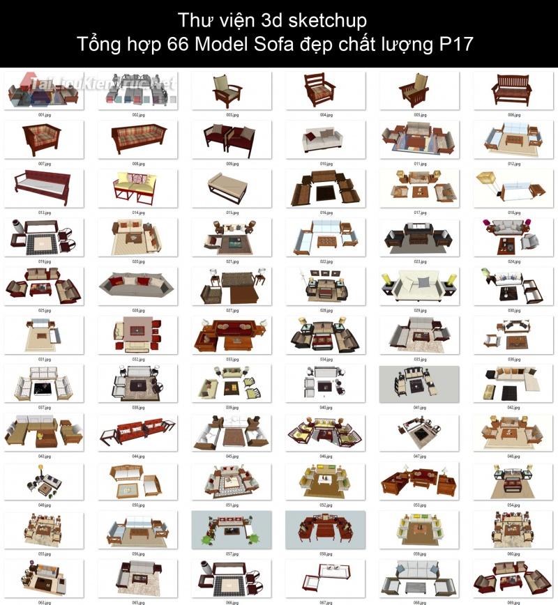 Thư viện 3d sketchup Tổng hợp 66 Model Sofa đẹp chất lượng P17