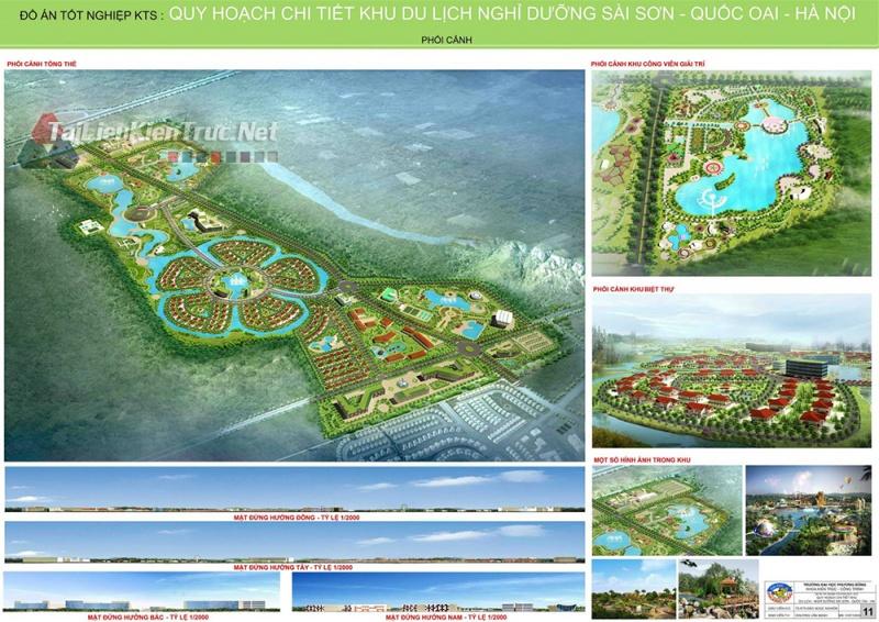 Đồ án tốt nghiệp KTS - Quy hoạch khu du lịch nghỉ dưỡng Sài Sơn Quốc Oai - Hà Nội