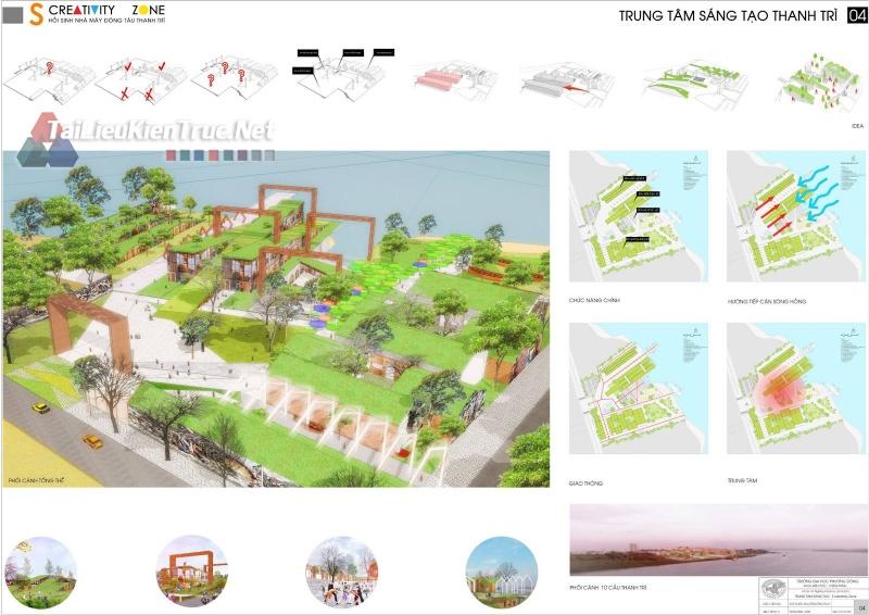 Đồ án tốt nghiệp KTS - Trung tâm sáng tạo Thanh Trì