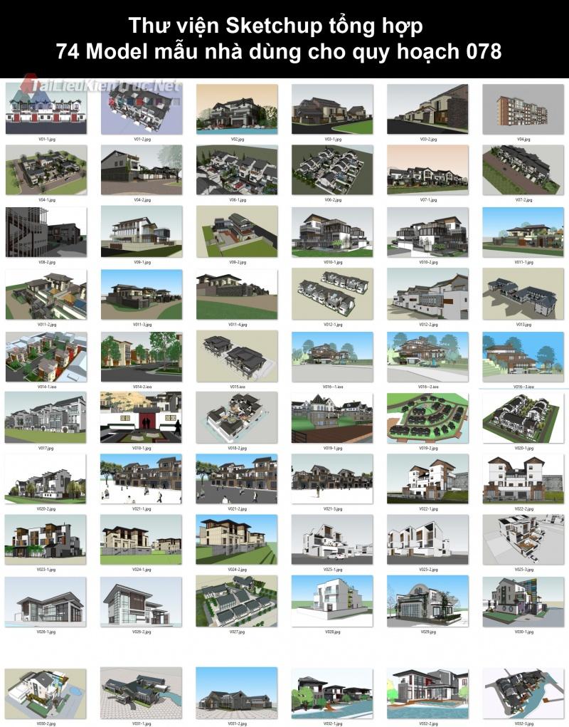 Thư viện Sketchup tổng hợp 74 Model mẫu nhà dùng cho quy hoạch 078