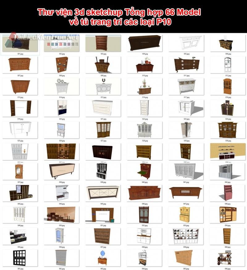 Thư viện 3d sketchup Tổng hợp 66 Model về tủ trang trí các loại P10