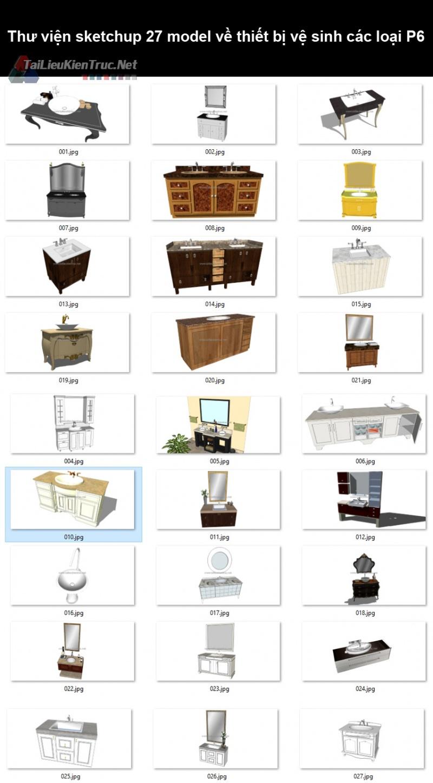 Thư viện sketchup 27 model về thiết bị vệ sinh các loại P6
