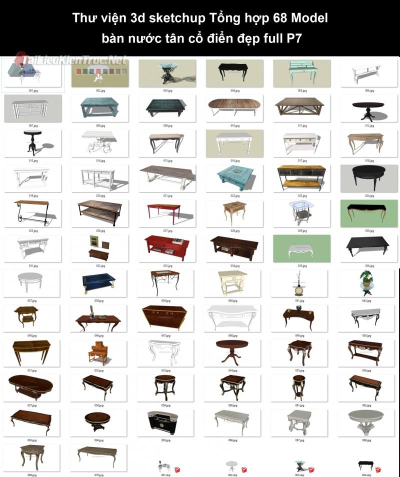 Thư viện 3d sketchup Tổng hợp 68 Model bàn nước tân cổ điển đẹp full P7