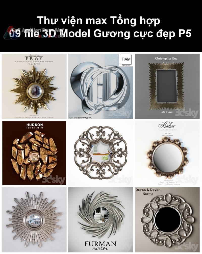 Thư viện max Tổng hợp 09 File 3D model Gương cực đẹp P5