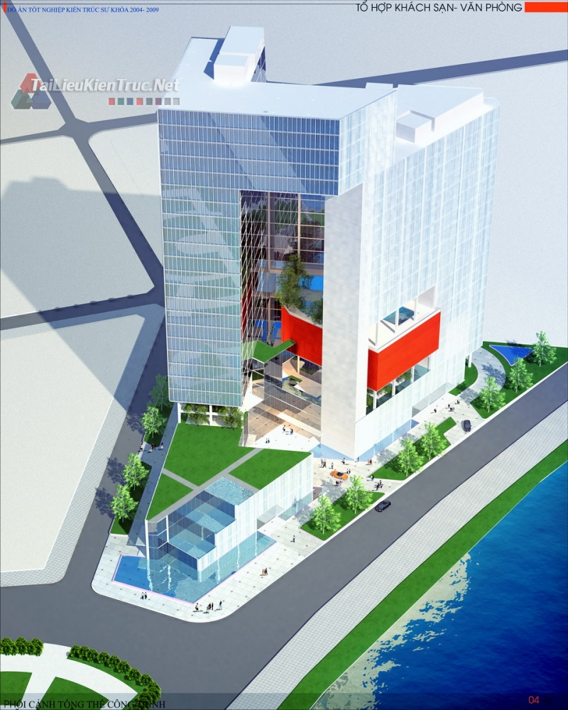 Đồ án tốt nghiệp kiến trúc sư - Đồ án tổ hợp khách sạn văn phòng quảng trường mê linh hồ chí minh