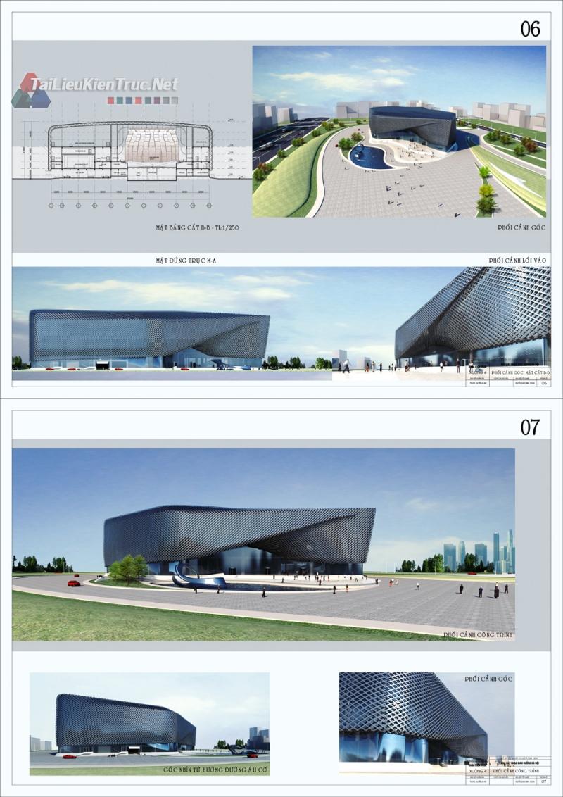 Đồ án tốt nghiệp kiến trúc sư - Thiết kế nhà hát nhạc giao hưởng Hà Nội