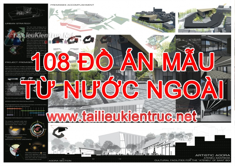 Tổng hợp gồm 108 Đồ án mẫu từ Nước Ngoài miễn phí tải về