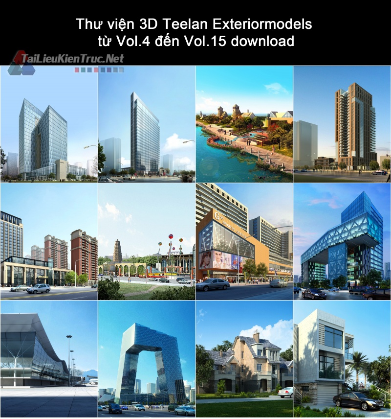Thư viện 3D Teelan Exteriormodels từ Vol.4 đến Vol.15 download