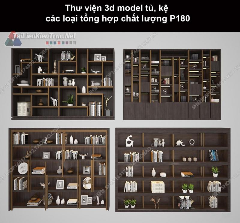 Thư viện 3d model tủ, kệ các loại tổng hợp chất lượng P180