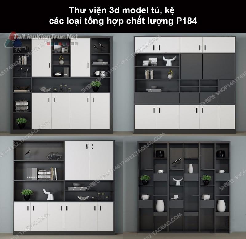 Thư viện 3d model tủ, kệ các loại tổng hợp chất lượng P184