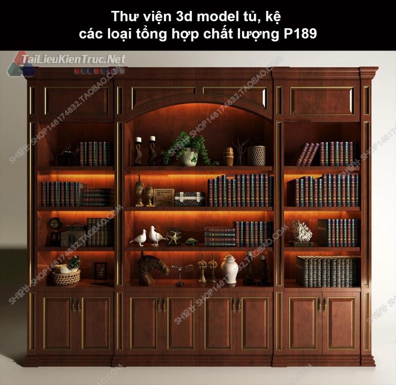 Thư viện 3d model tủ, kệ các loại tổng hợp chất lượng P189