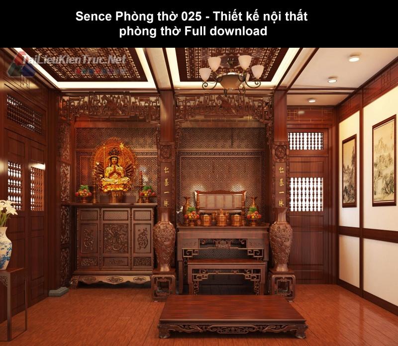 Sence Phòng thờ 025 - Thiết kế nội thất phòng thờ Full download