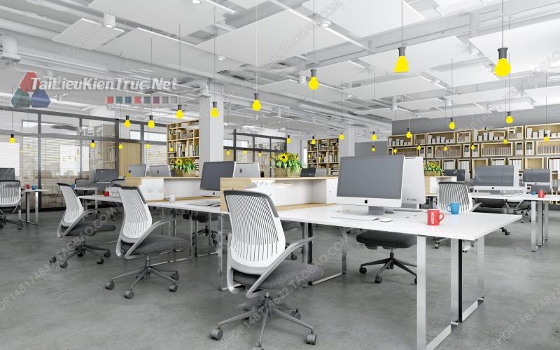 Phối cảnh 3d thiết kế nội thất văn phòng 075 full download
