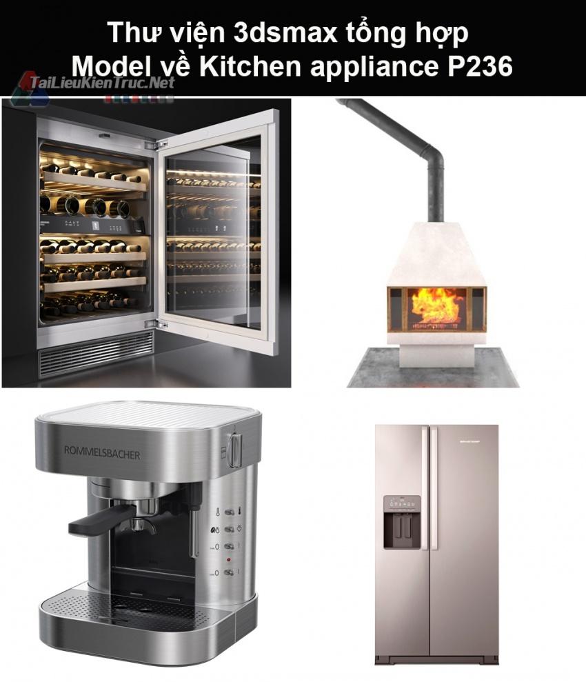 Thư viện 3dsmax tổng hợp Model về Kitchen appliance (Thiết bị nhà bếp) P236