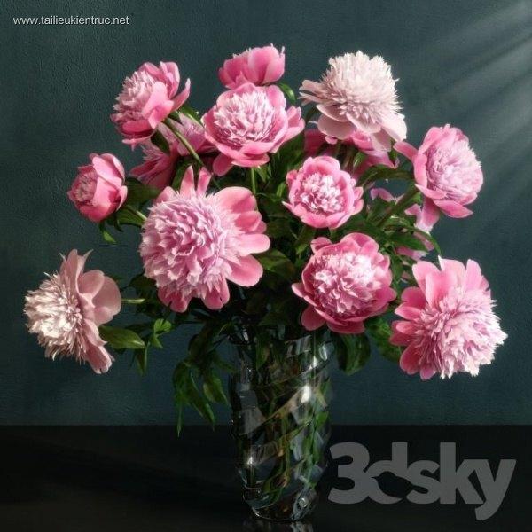 3D model lọ hoa Phăng 006
