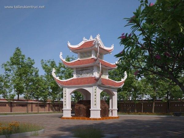 Thiết kế kiến trúc Lăng mộ dòng họ mẫu số 01