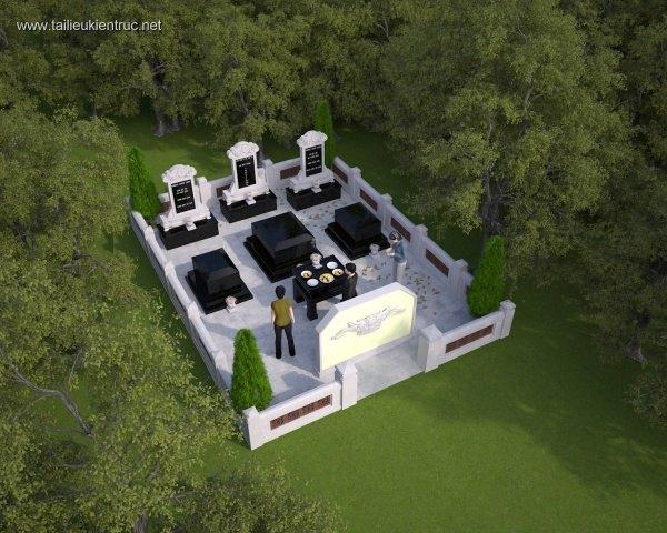 Thiết kế Lăng mộ dòng họ file 3dsmax