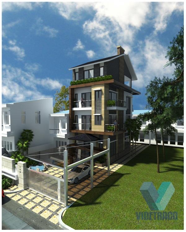 Hồ sơ thiết kế sơ bộ Nhà Phố 4 tầng kích thước sử dụng 6,5x13,2m 125