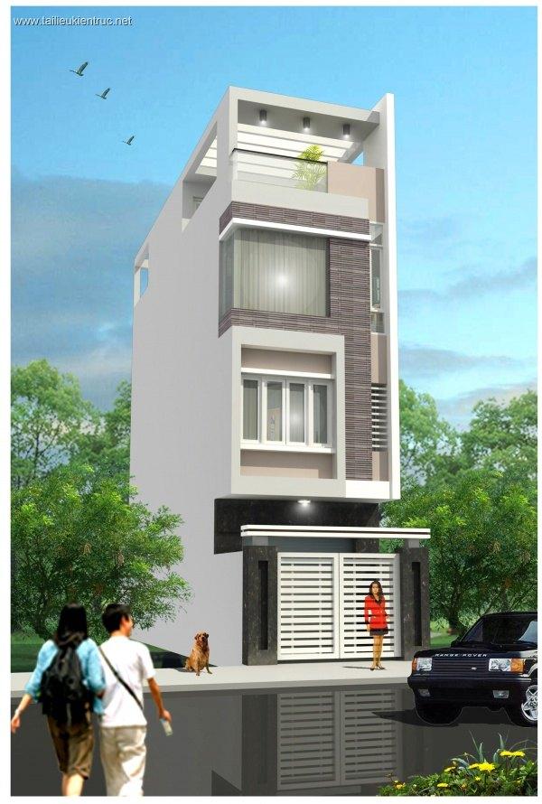 Hồ sơ thiết kế thi công nhà phố 3 tầng diện tích 4x13,5m 066