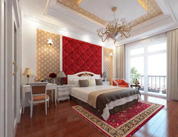 Sence Phòng Ngủ 00017 - Thiết kế phòng ngủ Sketchup tân cổ điển