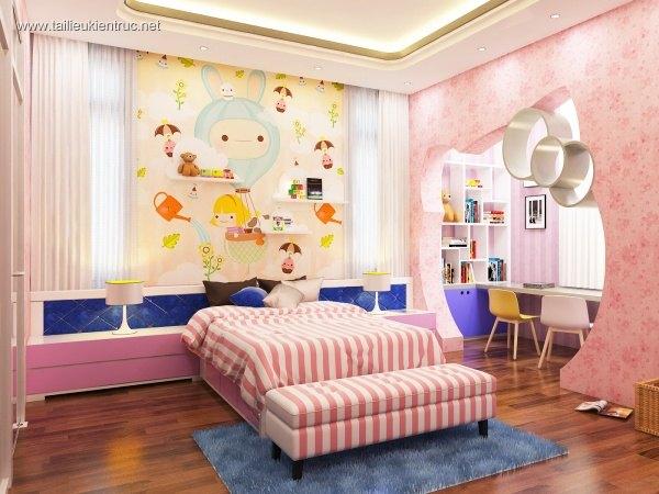 Sence Phòng Ngủ 00018 - Thiết kế phòng ngủ Con gái đẹp