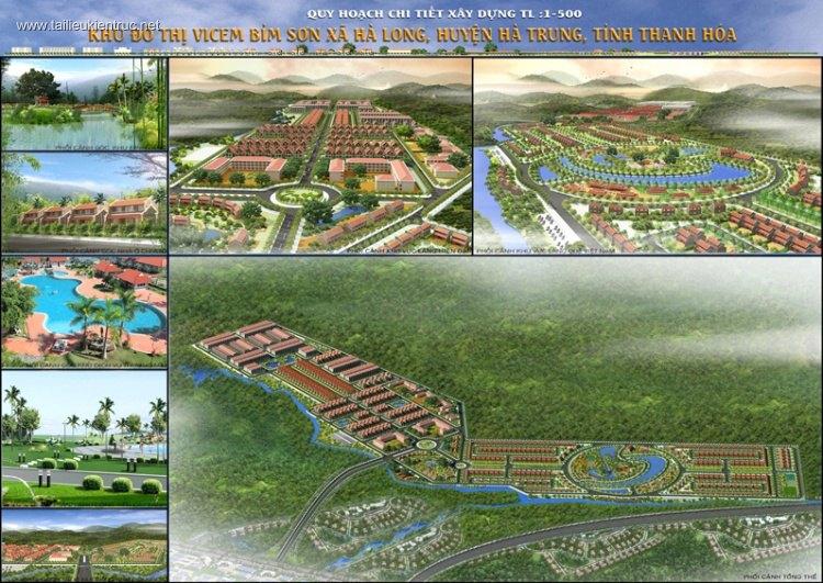 Quy hoạch 1/500 Khu đô thị Vicem Bỉm sơn - Hà Trung - Thanh Hóa