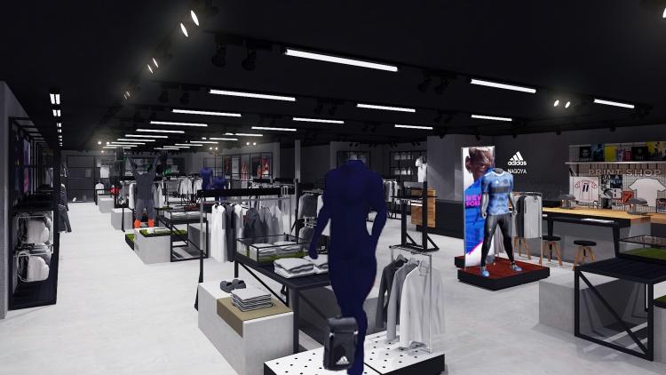 Phối cảnh 3dsmax Shop Adidas - Japan 009