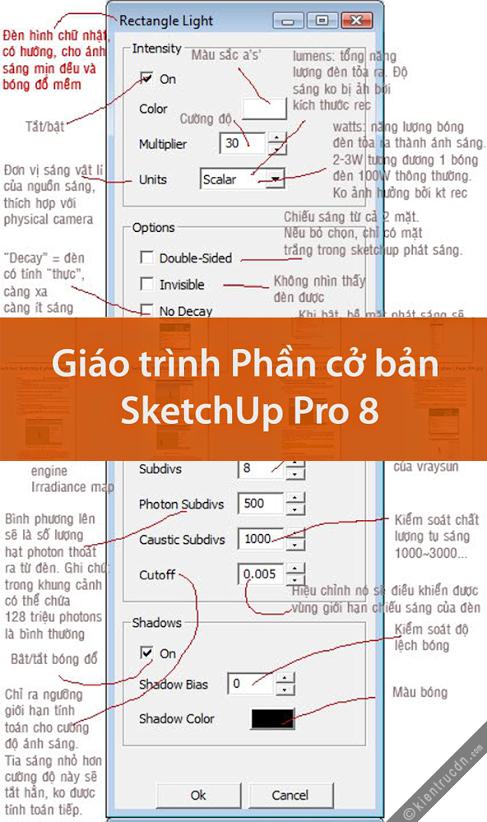 Giáo trình SketchUp Pro 8 Phần cơ bản