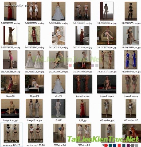 Tổng hợp 37 - 3D model Sexy Lady độc nhất vô nhị