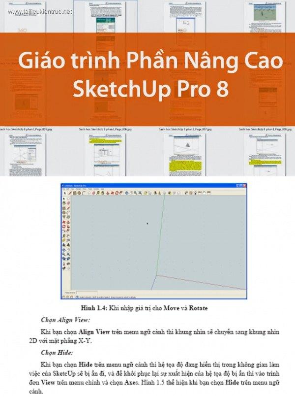 Giáo trình SketchUp Pro 8 Phần Nâng cao