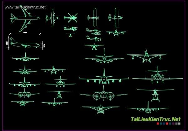 Thư viện autoacad về các loại máy bay