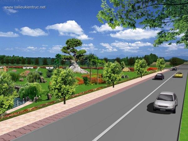 Phối cảnh công viên cây xanh công cộng  L061